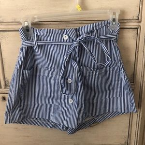 LF royal blue striped skort